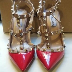 6022ce235049 camssoo Shoes - Strappy Studded pumps